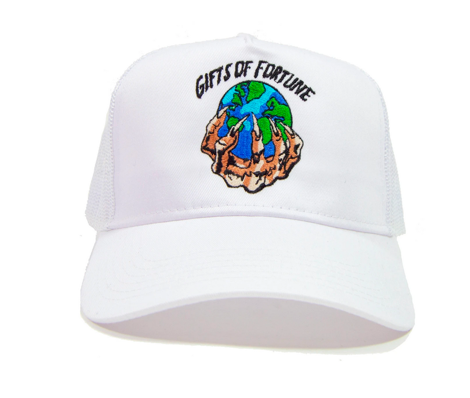 GIFTS OF FORTUNE The World is Yours Trucker Hat | White - Capsule NYC