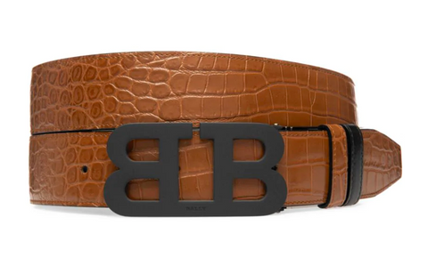 BALLY Iconic Croc Embossed | Brown