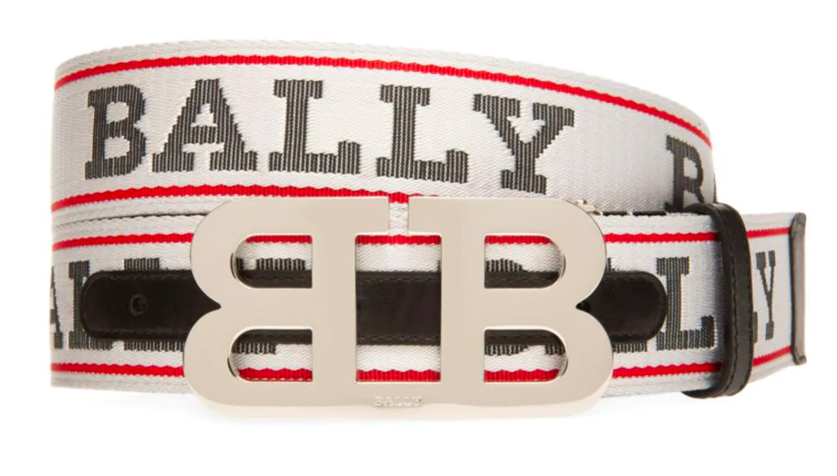 BALLY Iconic Reversible Buckle Mirror Belt | White - Capsule NYC