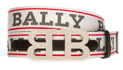 BALLY Iconic Reversible Buckle Mirror Belt | White