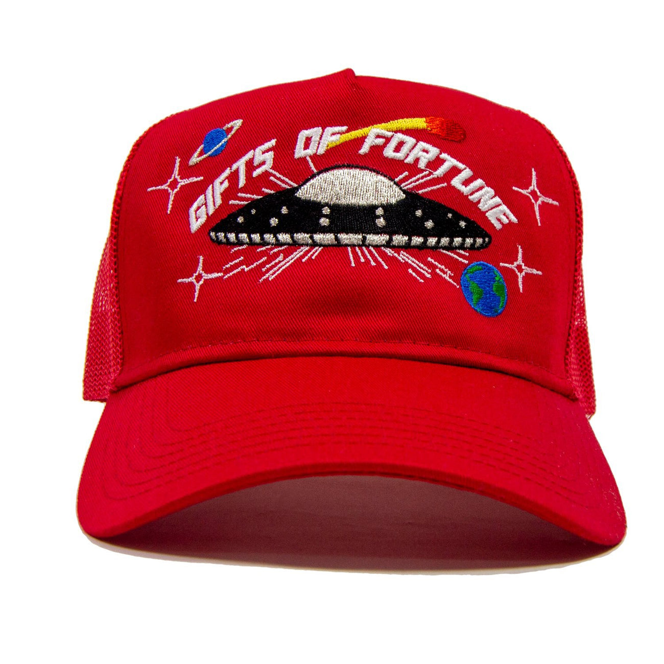 GIFTS OF FORTUNE They're  Here Trucker | Red