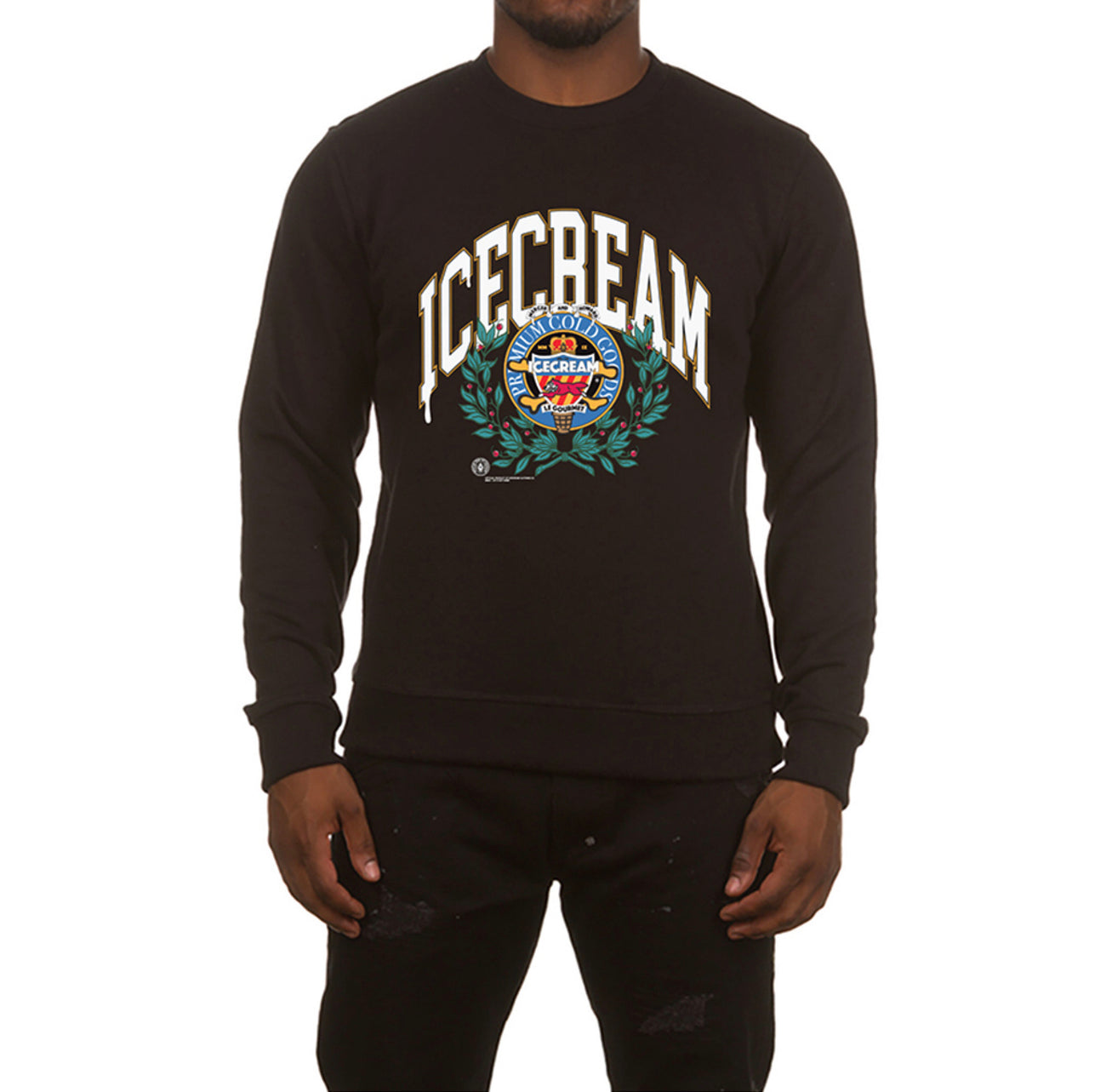 ICECREAM Collegiate Crew | Black - Capsule NYC