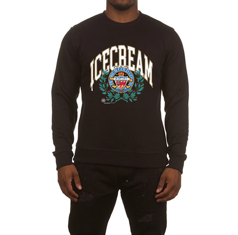 ICECREAM Collegiate Crew | Black