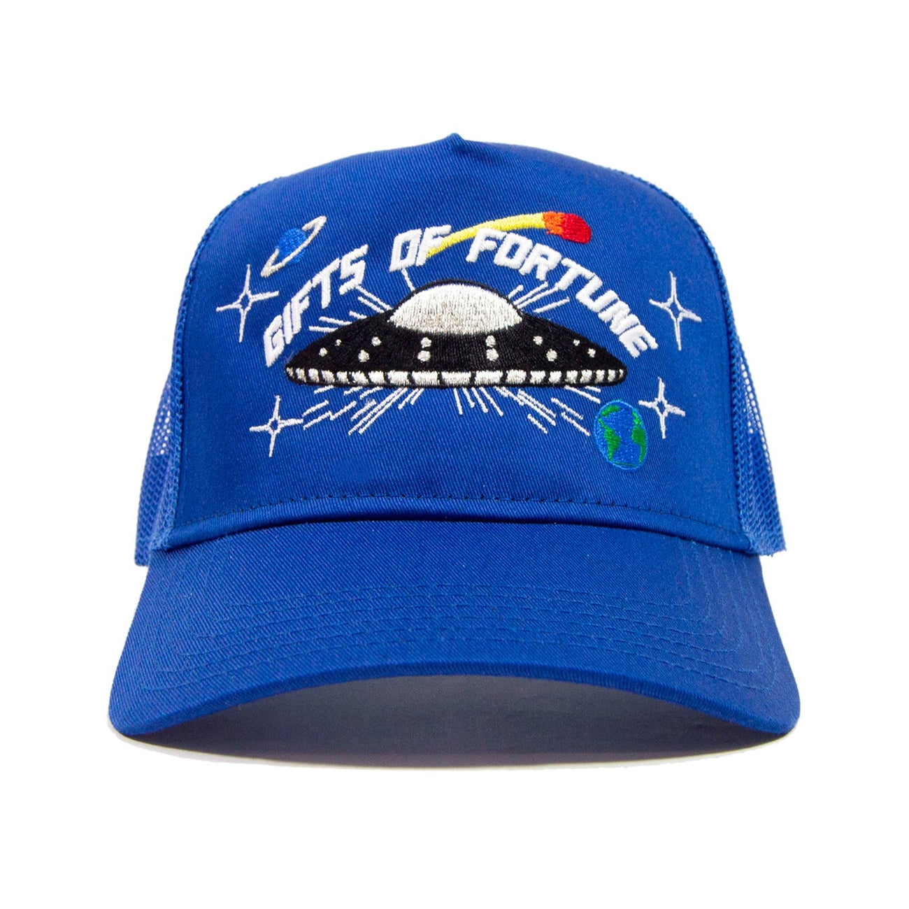 GIFTS OF FORTUNE They're Here Trucker | Blue - Capsule NYC