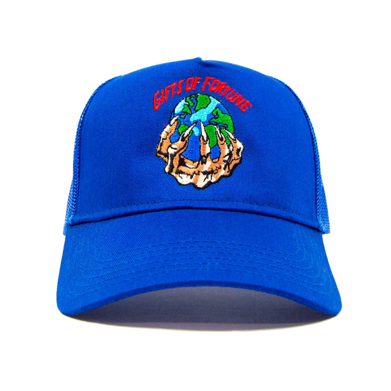 GIFTS OF FORTUNE The World is Yours Trucker Hat | Royal - Capsule NYC