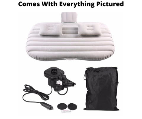 BedzyBay Inflatable Car Bed Air Mattress For Camping - Cab Bed Back Seat & Portable Travel Bad