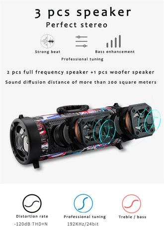 The Boom Barrel Bluetooth Speaker