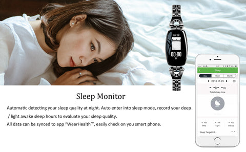 Smart Fitness Tracker Sleep Reminder