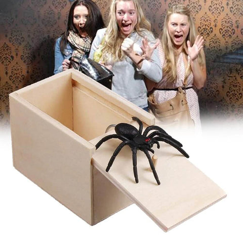Spider Prank Scare Box Handcrafted Surprise Box with Spider