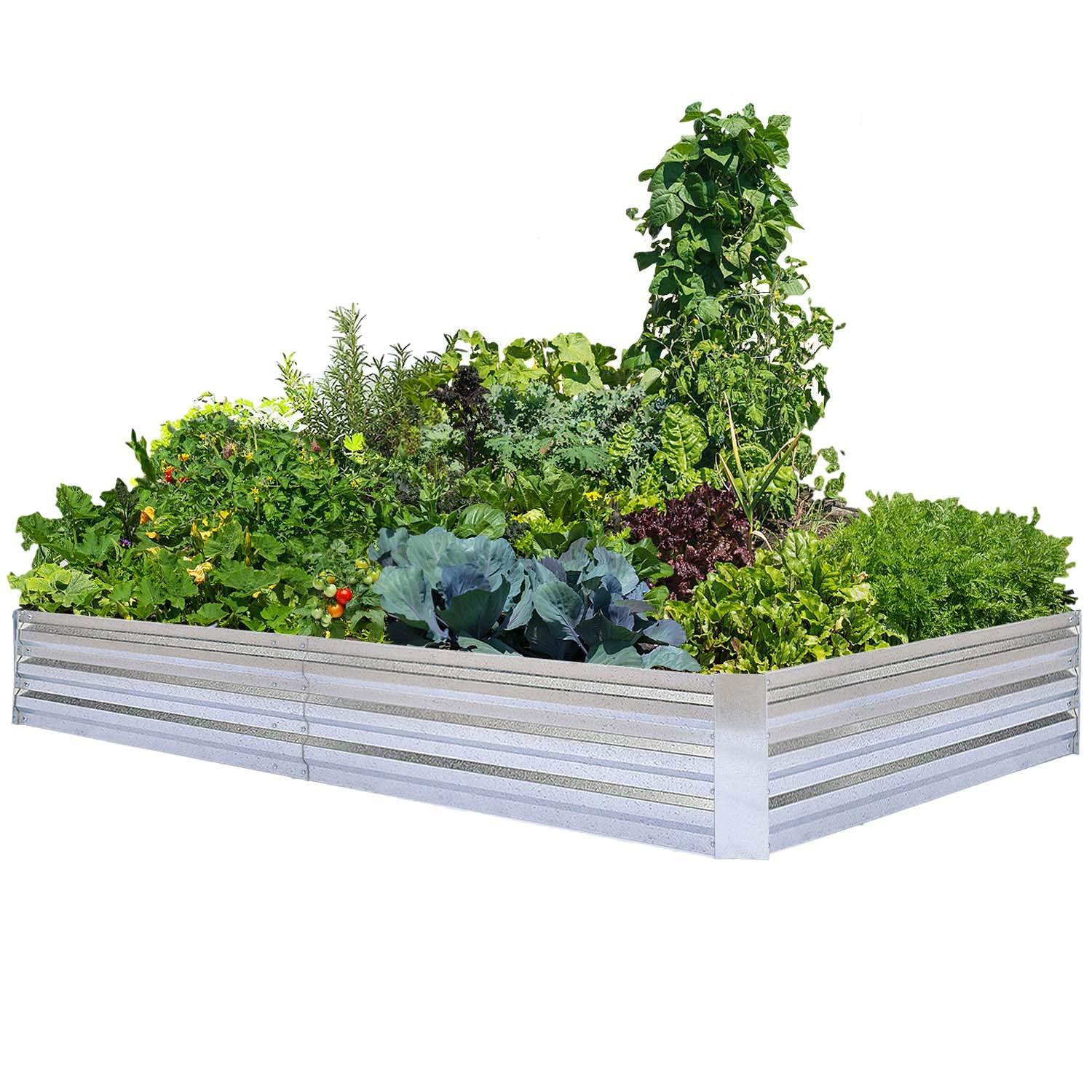 Heavy Duty Raised Garden Bed Planter Elevated Box - 8ft x 4ft x 1ft