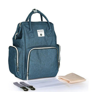 Best Diaper USB Bags - Nursing Bags - Diaper Bag Backpack - Multi-functional USB Maternity Diaper Backpack -Deep Blue - Shopptique