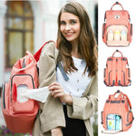 Best Diaper USB Bags - Nursing Bags - Diaper Bag Backpack - Multi-functional USB Maternity Diaper Backpack -Orange - Shopptique