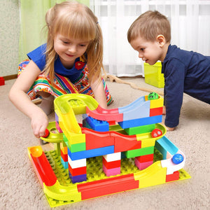 Best Marble Run Toy - Building Blocks Marble Race Track Construction Set - Best Marble Race Run Track -148 PCS - Shopptique