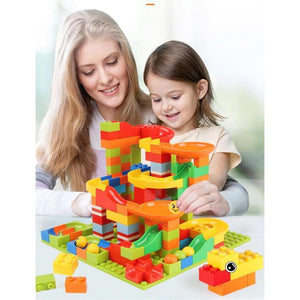 Best Marble Run Toy - Building Blocks Marble Race Track Construction Set - Best Marble Race Run Track -165 PCS - Shopptique