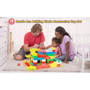 Best Marble Run Toy - Building Blocks Marble Race Track Construction Set - Best Marble Race Run Track -73 PCS - Shopptique