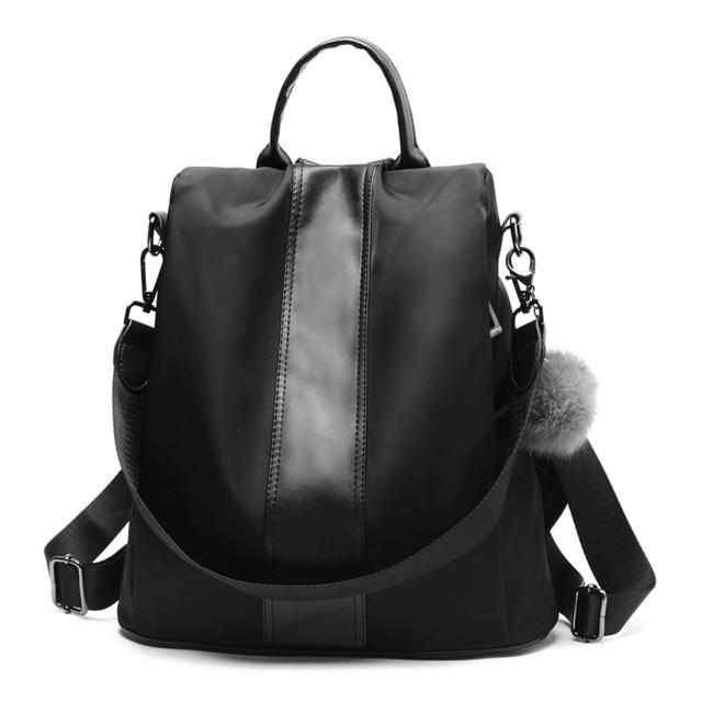 Handbag, Shoulder Bag, Sling Bag, Satchel Bag, Tote Bag and Crossbody Bags For Women - Waterproof 3 Way Anti-Theft Women's Backpack -Black - Shopptique