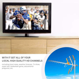 HDTV Digital Outdoor Antenna – With 80 Miles Reception Range