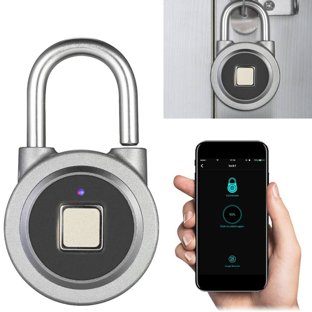 Intelligent Fingerprint Padlock Black