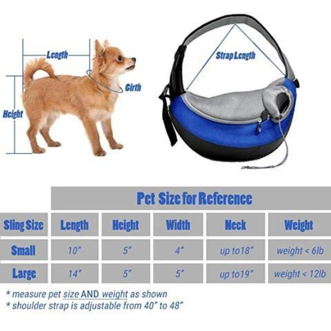 Pet Dog Sling Pouch Carrier - Breathable Mesh Travel Safe Sling Bag Carrier for Dogs & Cats - Comfy Pet Carrier Pouch - - Shopptique