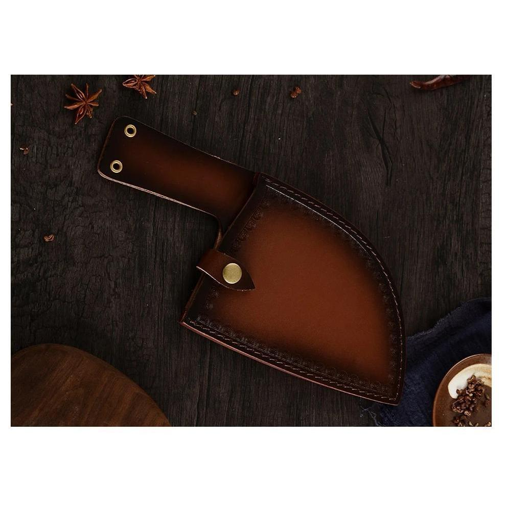 Premium Leather Sheath For Knifique™️ Handmade Chef's Knife - Premium Leather Sheath - - Shopptique