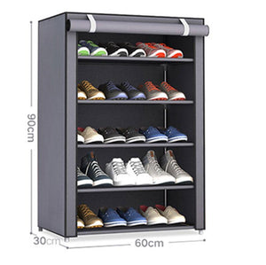 Spacious Shoe Storage Cabinet Organizer Cubby Stackable Rack