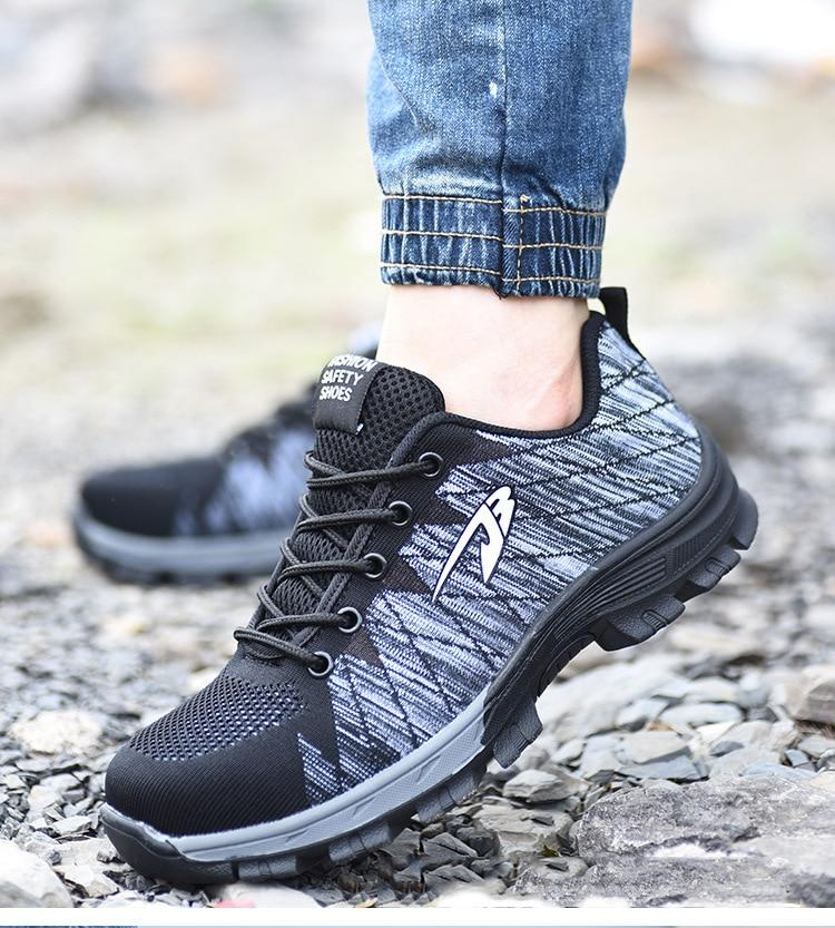 Women's Steel Toe Safety Work Shoes Fashionable