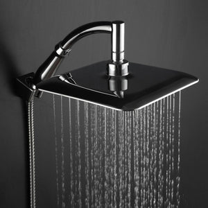 Rainfall Shower Head Square Stainless Steel