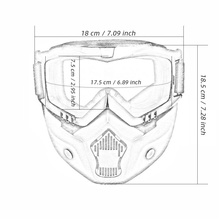 Snow Ski Goggles With Mouth Filter