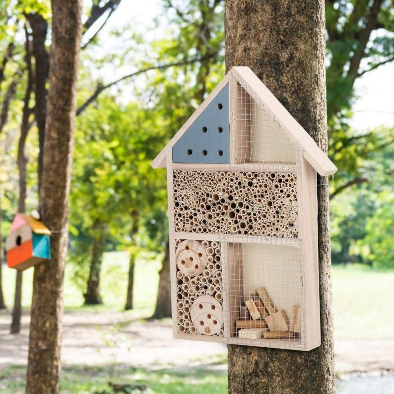 Natural Wooden Bee Hive Box House