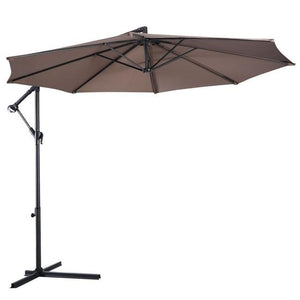 Heavy Duty Outdoor Solar Patio Pool Offset Umbrella