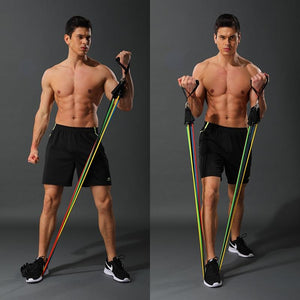 Premium Resistance Exercise Workout Bands With Handles Set