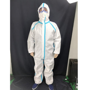 Heavy Duty Lightweight Disposable Safety Coverall White