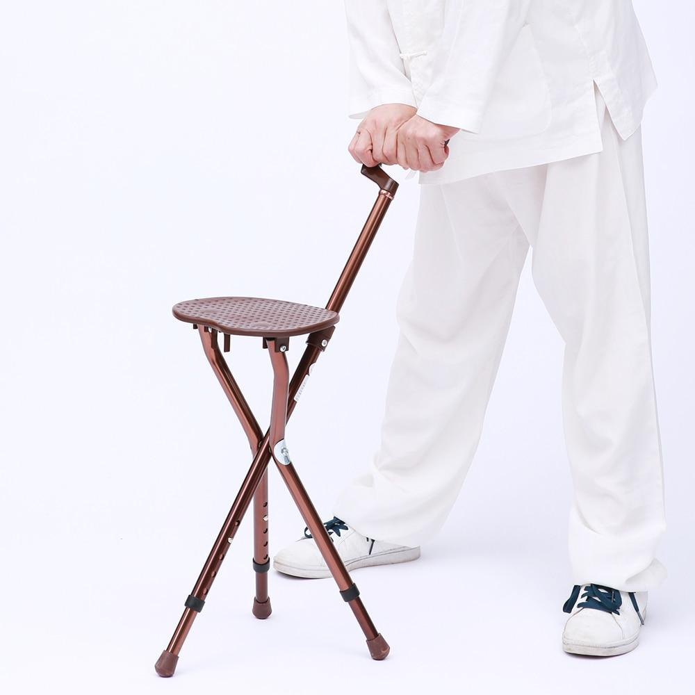 Portable Walking Cane Seat Heavy Duty & Foldable