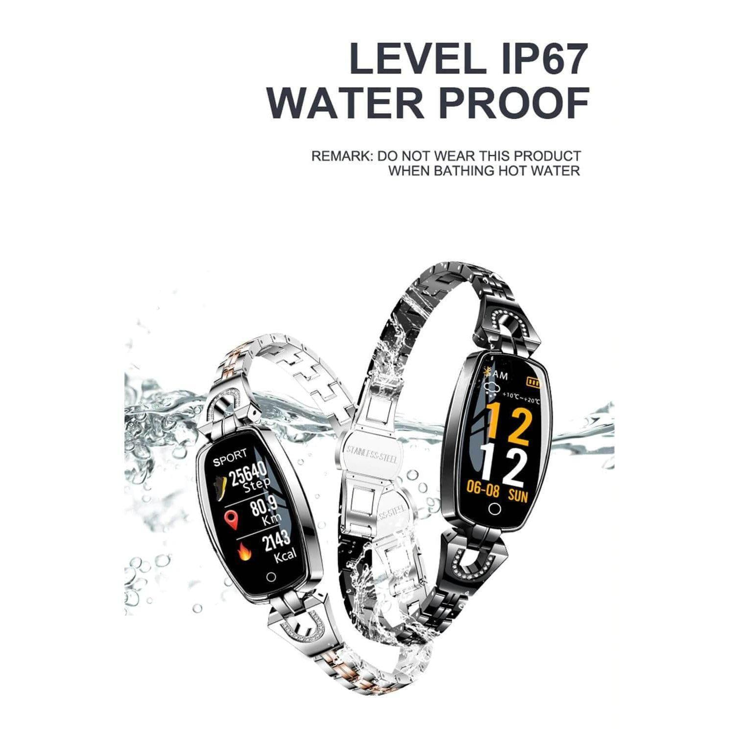 SmartWatch Women - Waterproof Fitness Tracker for both Android & IOS - Best Smart Fitness Watch For Womens - Premium Smart Fitness Tracker - Compatible with Android & IOS -Set of Silver & Black - Save $20 - Shopptique