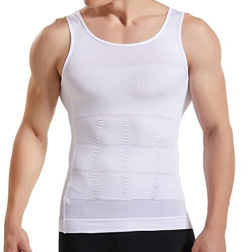 Spanx For Men - Compression Tank Tops - Mens Body Shaper Slimming Vest - Mens Slimming Body Shaper -M / White - Shopptique