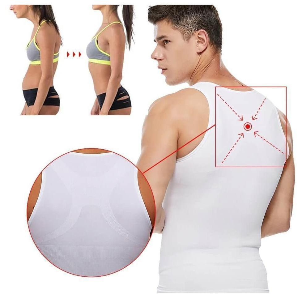 Spanx For Men - Compression Tank Tops - Mens Body Shaper Slimming Vest - Mens Slimming Body Shaper - Shopptique