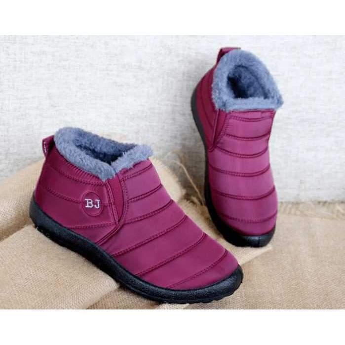 Warm Snow Boots, Winter Warm Ankle Boots, Fur Lining Waterproof Boots - Women's Soft Sole Warm Ankle Boots - - Shopptique