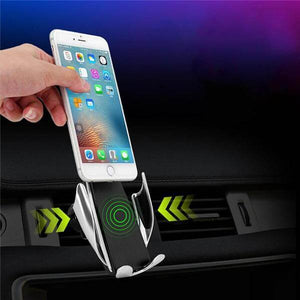 Wireless Car Charger Mount For iPhone And Android - Automatic Clamping Wireless Car Charger Mount For iPhone And Android - - Shopptique