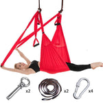 Yoga Swing - Yoga Hammock - Aerial Yoga Hammock - Anti-Gravity Yoga Hammock -Red - Shopptique