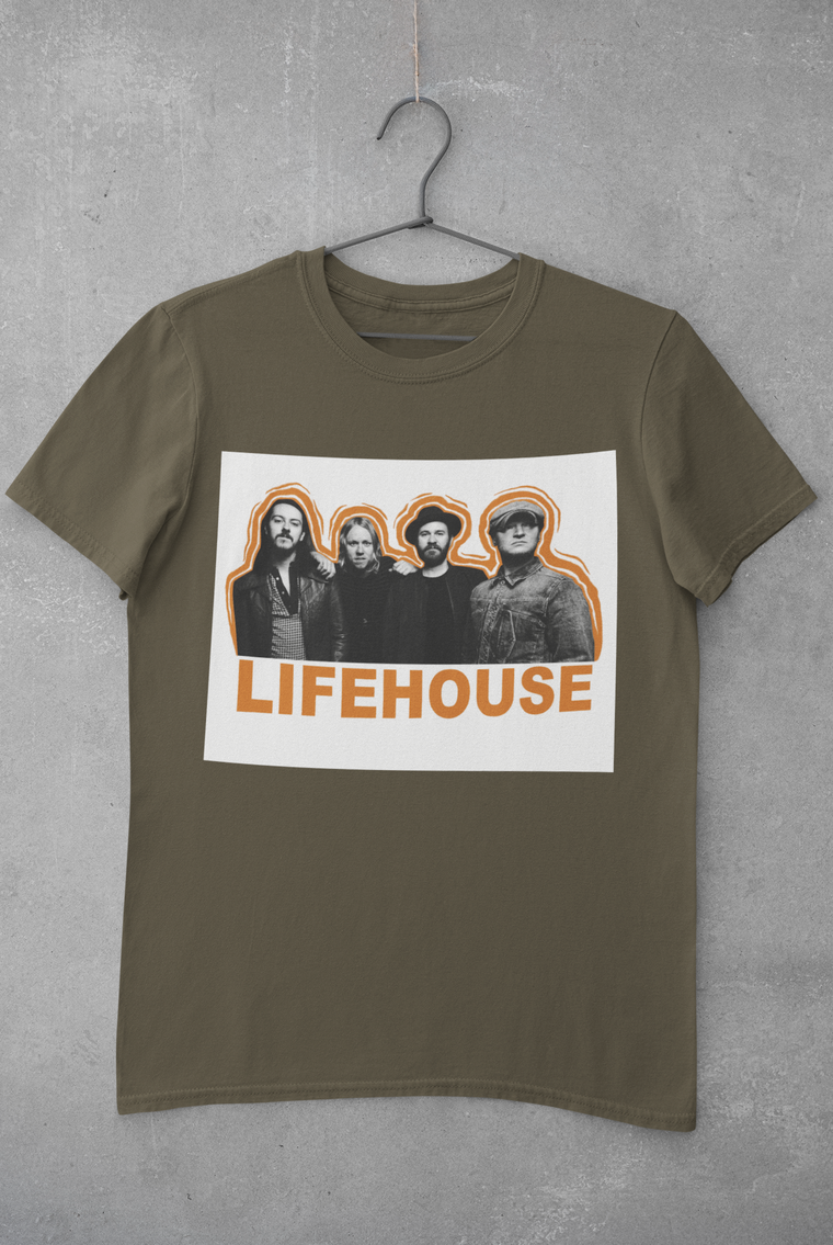 Lifehouse Army Green Band Tee