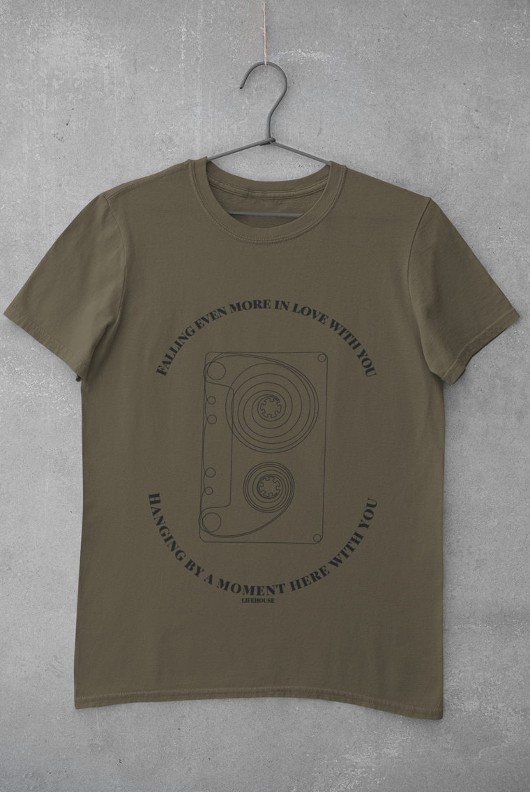 Cassette 'Hanging By A Moment' Lyric Tee