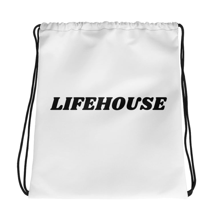 Lifehouse Drawstring Bag White