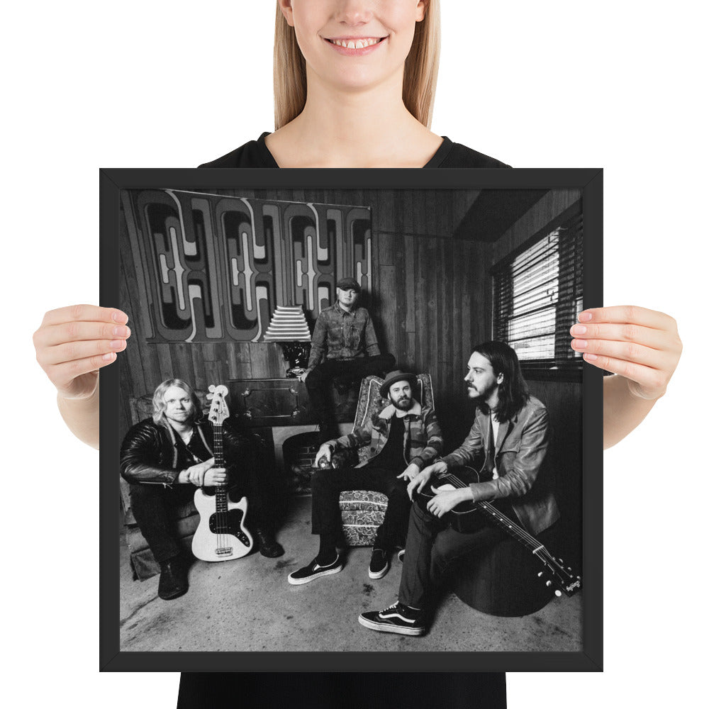 Black & White Framed Band Poster