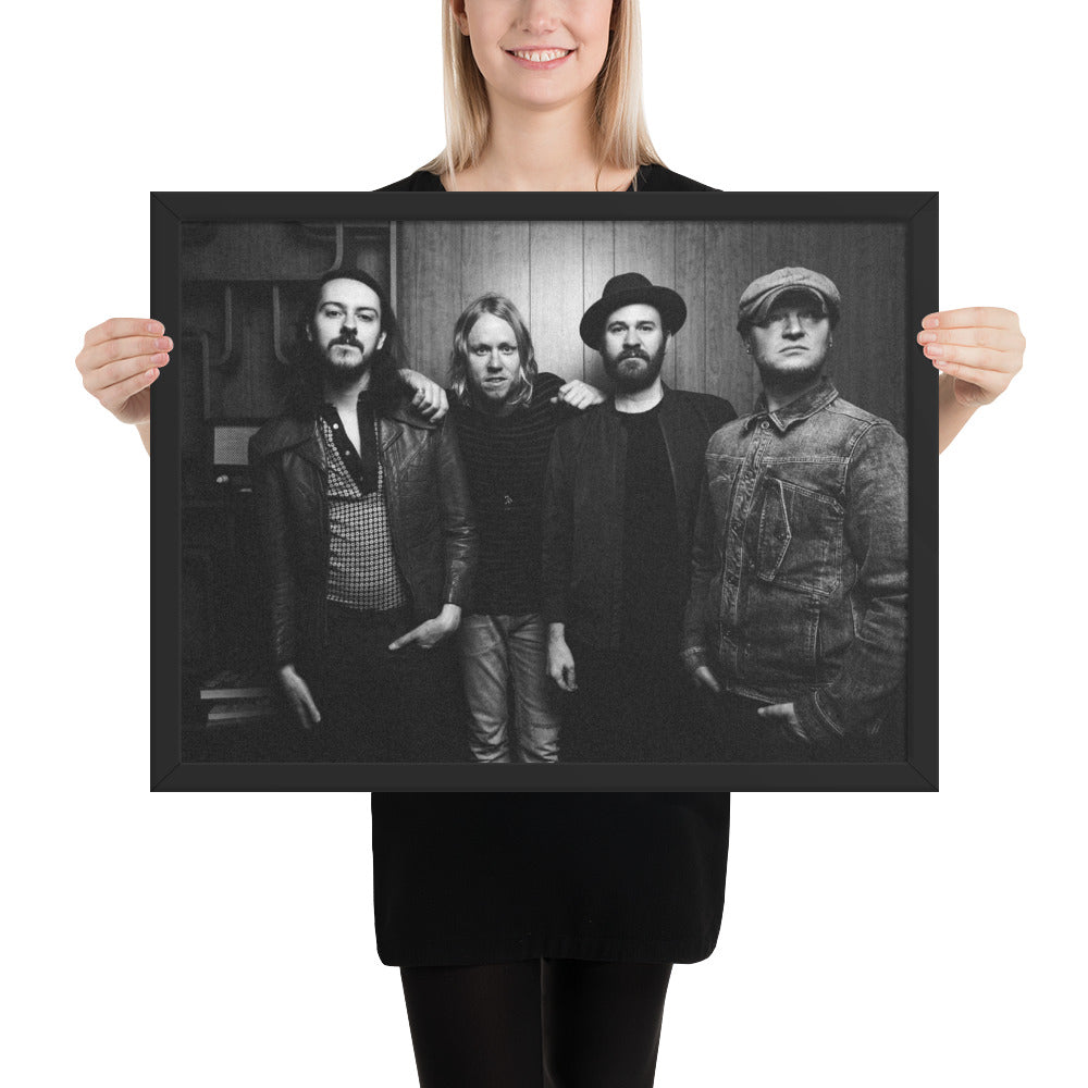 Black and White Framed Band Poster