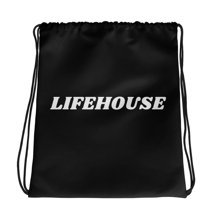 Lifehouse Drawstring Bag Black