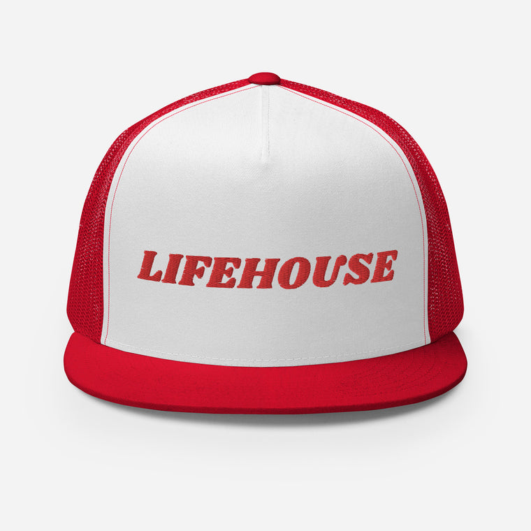 Lifehouse Logo Trucker Hat Red