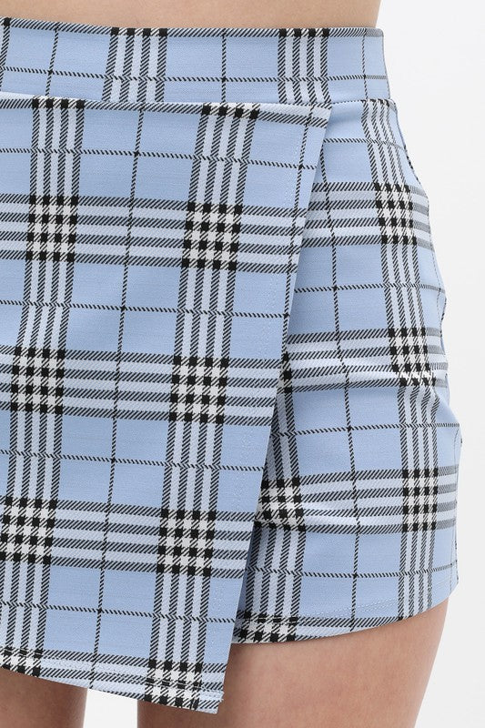 THE SCOTTS Baby Blue Plaid Skirt/Short/Skort