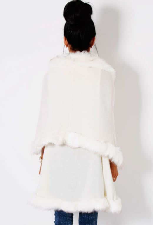 RICH GIRL Faux Fur Cape