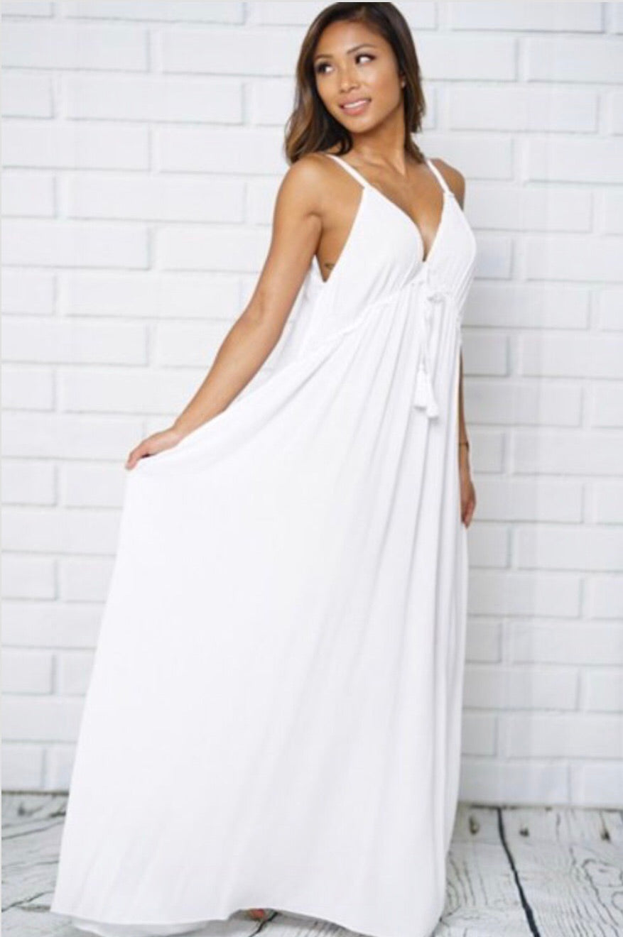 99b4cfccefa4 SUMMER BREEZE White Cotton Maxi Dress – Malandra Boutique