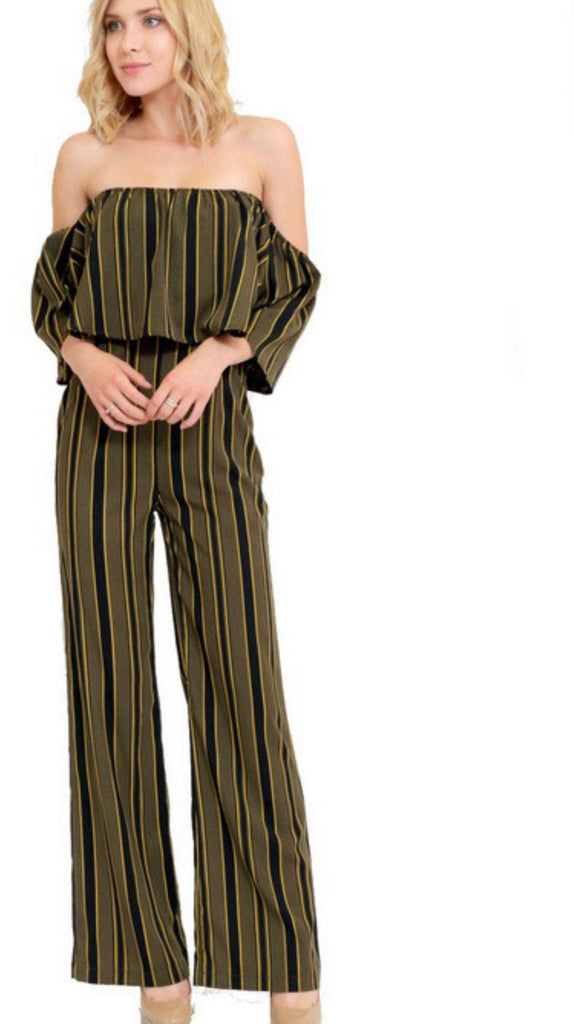 THIS LIFE Striped Comfy Jumpsuit